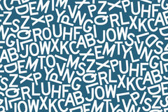 mixed up letters of the alphabet stock illustration