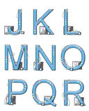 Alphabet Mod Elements J to R Royalty Free Stock Image