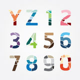Alphabet modern color abstract style Design. Vector illustration Stock Photography
