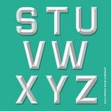 Alphabet modern colour style. Stock Image