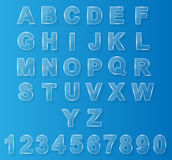 Alphabet modern glass for web. Design Royalty Free Stock Photos