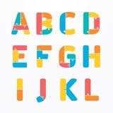 Alphabet modern paper jigsaw concept style Design. Vector. Stock Photos