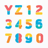 Alphabet modern paper jigsaw concept style Design. Vector. World Infographic Template jigsaw concept banner. vector illustration Royalty Free Stock Photos