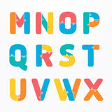 Alphabet modern paper jigsaw concept style Design. Vector. World Infographic Template jigsaw concept banner. vector illustration Stock Photo