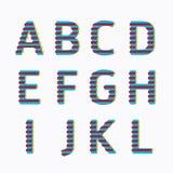 Alphabet modern paper line colour concept style Design. Vector stock illustration