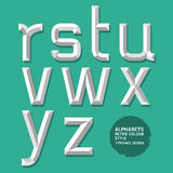Alphabet modern style. Royalty Free Stock Photo