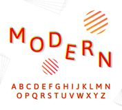 Alphabet moderne de mode illustration libre de droits