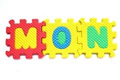 Alphabet mon Puzzle Pieces Stock Photography