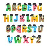 Alphabet monster character Stock Photos