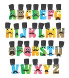Alphabet monster character Royalty Free Stock Images