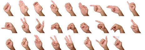 Alphabet muet photos libres de droits