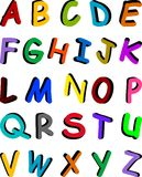 Alphabet multicolore Photos libres de droits