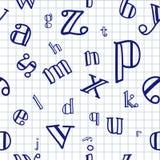 Alphabet-nahtloser Hintergrund lizenzfreie abbildung