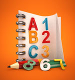 Alphabet notebook Stock Photos