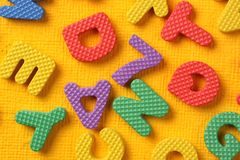 Alphabet and Number Blocks Royalty Free Stock Images