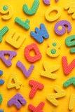 Alphabet and Number Blocks Royalty Free Stock Photos