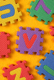 Alphabet and Number Blocks Stock Image