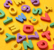 Alphabet and Number Blocks Royalty Free Stock Photo