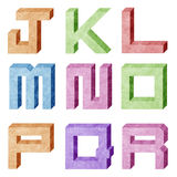 Alphabet number recycled paper craft Stock Photo