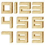 Alphabet number recycled paper craft Royalty Free Stock Photos