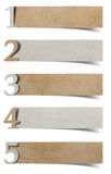 Alphabet number recycled paper craft Stock Photography