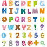 The alphabet and number stock illustration