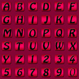 Alphabet number set Stock Photo