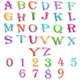 Alphabet and Number Set Stock Images