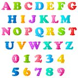 Alphabet and Numbers Royalty Free Stock Photos