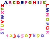 Alphabet and numbers Royalty Free Stock Photo