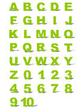 Alphabet and numbers Stock Photography