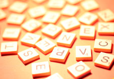 Alphabet and numbers. Close up of Alphabet and numbers Royalty Free Stock Images