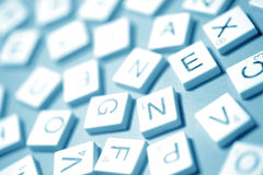 Alphabet and numbers. Close up of Alphabet and numbers Royalty Free Stock Photography