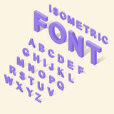 Alphabet with numbers icons set isometric 3d style. Alphabet with numbers icons set in isometric 3d style. English font set collection vector illustration Royalty Free Stock Image