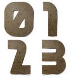 Alphabet numbers Mulberry Paper. Hand made stock illustration