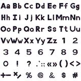 Alphabet, numbers and signs, serpentines Stock Image