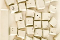 Alphabet numbers and some other keys. Alphabet numbers and some other keyboard keys shot royalty free stock images