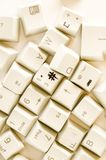 Alphabet numbers and some other keys. Alphabet numbers and some other keyboard keys shot royalty free stock photography