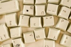 Alphabet numbers and some other keys. Alphabet numbers and some other keyboard keys shot royalty free stock image