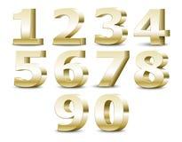 Alphabet numbers. Vector illustration. 3D alphabet numbers. Vector illustration Royalty Free Stock Photos