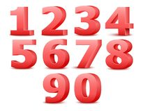 Alphabet numbers. Vector illustration. Royalty Free Stock Photos