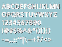 Alphabet, numeral and signs Stock Images