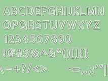 Alphabet, numeral and signs Stock Image
