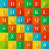 Alphabet and numerals royalty free illustration