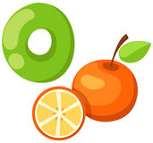 Alphabet O pour l'orange Photographie stock libre de droits