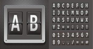 Free Alphabet Of Mechanical Panel On Metallic Plate. Stock Photo - 19459430