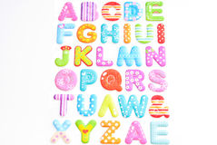 Alphabet On White Background Royalty Free Stock Images