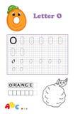 Alphabet, orange Stock Photos