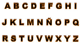 Alphabet orange and black Royalty Free Stock Photo