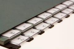 Alphabet organizer. On table Stock Photography